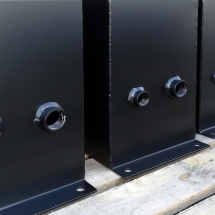 staal | stralen + primer + poedercoating | RAL 9005 mat | #180161
