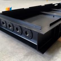 staal | stralen + poedercoating | RAL 9005 MAT structuur | #180213