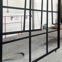 staal | stalramen | stralen + poedercoaten | RAL 9005 mat | #180146