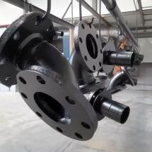 staal | piping onderdelen | stralen + primer + poedercoaten | RAL 9005 mat | #180167