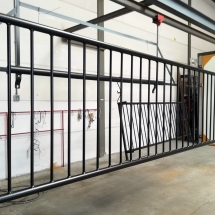 staal | hekwerk | primer + poedercoaten | RAL 9005 mat | #180173