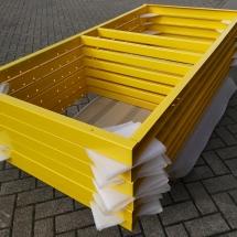 poedercoating stalen frames | RAL 1023 verkeersgeel