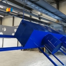 poedercoaten luchtfilter installatie onderdelen blauw RAL5010