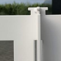 poedercoaten nieuw stalen onderstel tafelfram RAL9010 wit fijnstructuur