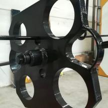 staal | primer + poedercoaten | RAL 9017 | #180163