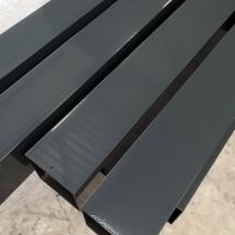 aluminium staanders | primer + poedercoaten | RAL 7016 | #180164
