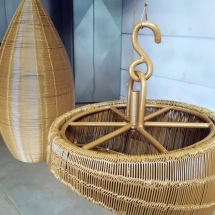 staal | decoratieve hanglamp | primer + poedercoaten | RAL 1036 parelmoer goud | #180202