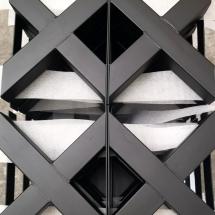 poedercoaten stalen tafelpoten RAL 9005 mat zwart